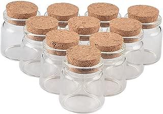 TAI DIAN 37x40x27mm 20ml Cute Glass Vials Glass Bottles with Corks Small Glass Jars Gift Bottles Factory Wholesale 50pcs (50, 20ml-37x40x27mm)