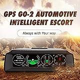 MOGOI X90 Smart GPS Slope Meter, Inclinometro di livello per auto con display LCD HD della testa dell'automobile, Inclinometro digitale con bussola e GPS per auto/SUV/RV/Camion/Rimorchio