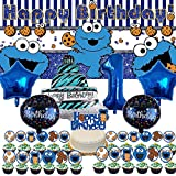 Cookie Monster 1st Party Supplies Decorations For Girls Boys First One Year Old...