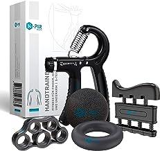 N-PIR Premium handtrainer, 5-delige set, verschillende gewichtsniveaus, perfect voor grip, onderarm en vingertraining, Dui...