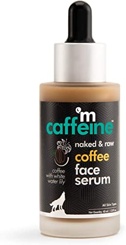 mCaffeine Naked & Raw Coffee Face Serum | Sun Protection | Hyaluronic Acid, Vitamin E | All Skin | Paraben & Mineral Oil Free | 40 ml product image