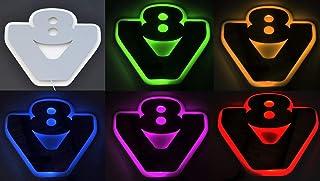 24 V RGB LED 3D Platte Silber matt grau neon 20 statische Farben Lichtzeichen V8 für Scania Trucks und Trucker