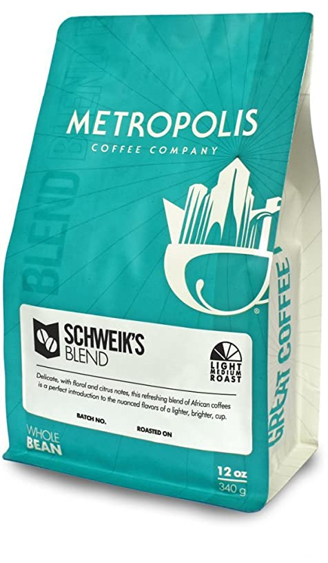 Metropolis Coffee Company - Schweik's Blend - Light-Medium Roast (Whole Bean, 12 oz Bag)
