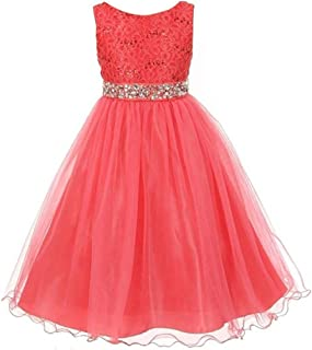 f12773a3a Amazon.com  coral flower girl dress - Exclude Add-on   Dresses ...