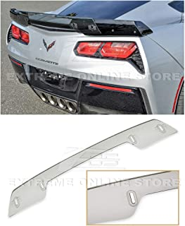 Extreme Online Store Replacement for 2014-Present Chevrolet Corvette C7 | Z06 Z07 Stage 3 Style Rear Trunk Center Wickerbill Spoiler (Light Tinted)