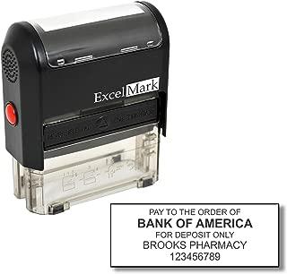 Bank Deposit Stamp - Five Line Self Inking Stamp for Check Endorsement - 7/8