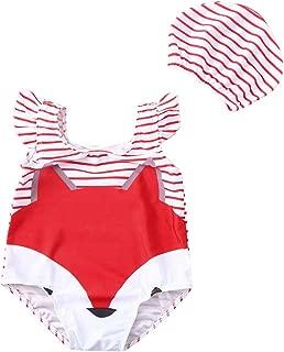bañador Natacion con Gorro de baño niña niño bebé 0 a 4