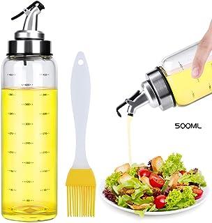 Ninonly Botella Dispensadora de Aceite de Oliva 500ml Dispensador de Pulverizador De Aceite Recargable Botella de Rociador de Aceite de Oliva para Cocinar,Barbacoa,Ensalada