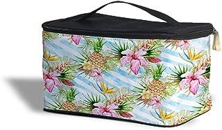 Aloha Pineapple Stripes Cosmetics Storage Case - Makeup Zipped Travel Bag