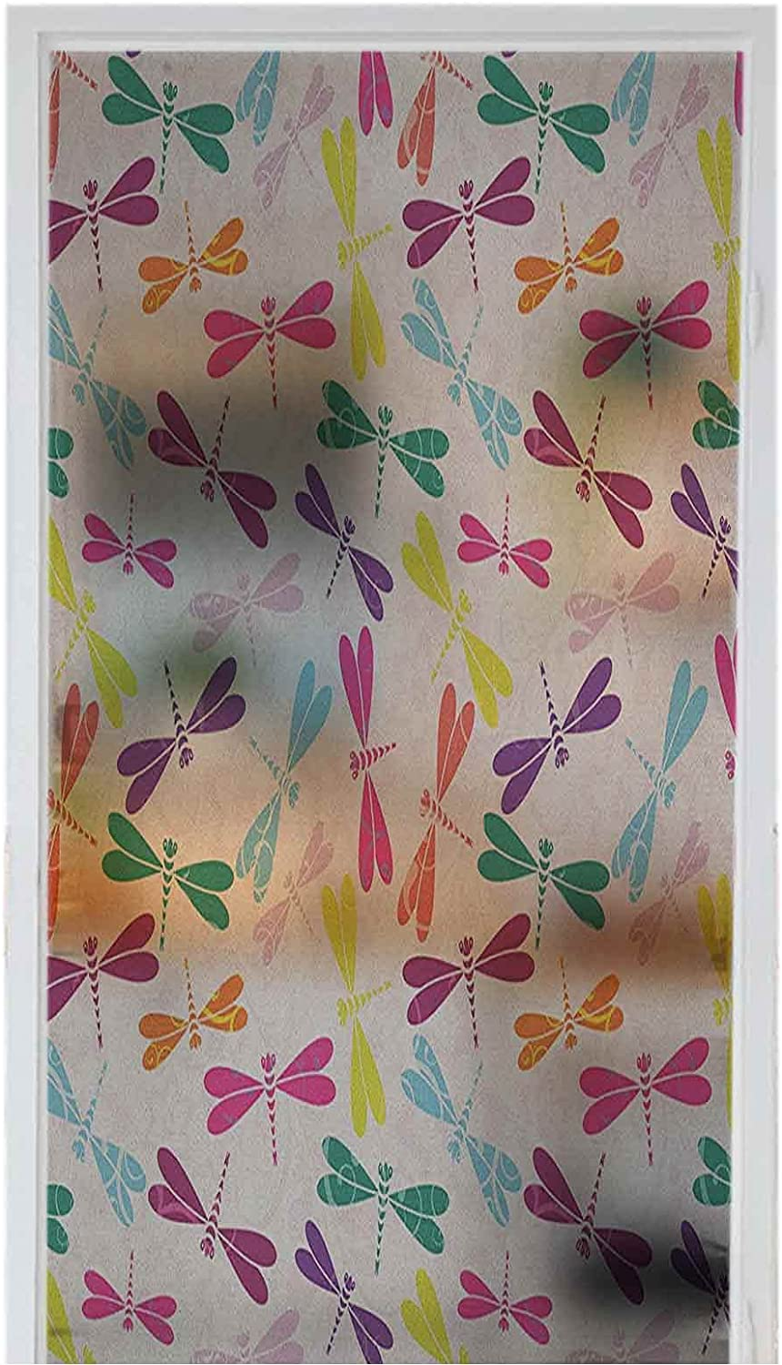 Window Film PVC Home Decoration Dragonfly Nursery Removable SEAL limited product Kids All items free shipping