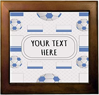 Ceramic Tile in Wood Frame Custom Altay Country Flag Soccer Pattern Adults