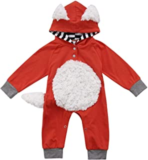 Infant Baby Fox Jumpsuit Girls Boys Bodysuit Romper Toddler Outfits Clothes Costumes 0-18M