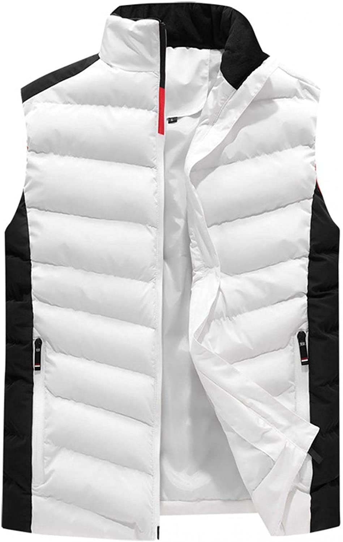 Huangse Men's Padded Down Vest Winter Casual Lightweight Work Sports Travel Outdoor Puffer Vest