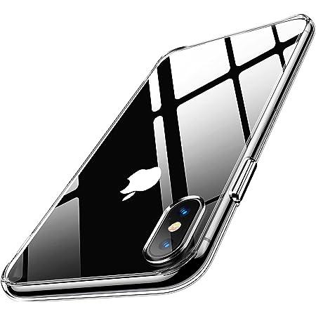 Humixx for iPhoneXs ケース iPhoneX ケース 2021最新型 9Hガラス背面+TPUバンパー 高透明 黄変防止 日本旭硝子製 クリア