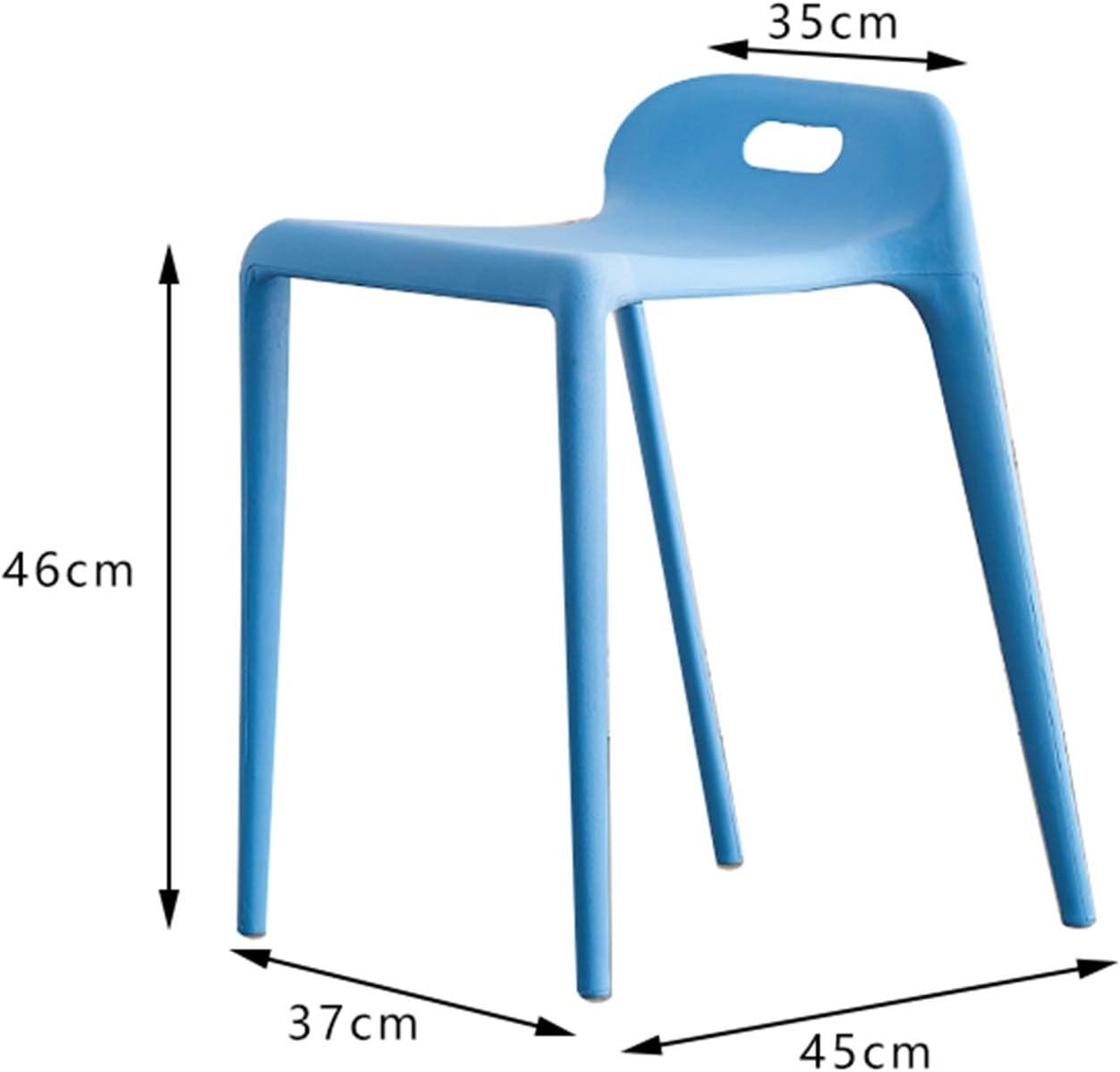 Yuansr Plastique Tabouret Maison épaissie Manger Salle à Manger Haut Tabouret Simple Table à Manger en Caoutchouc Banc à Quatre Pieds Salon Loisirs Chaise (Color : Red) Gray
