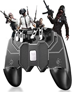 Mobile Game Controller, Cell Phone Game Triggers Sensitive Aim Keys,Game Trigger Joystick Gamepad Grip for Android and iOS...
