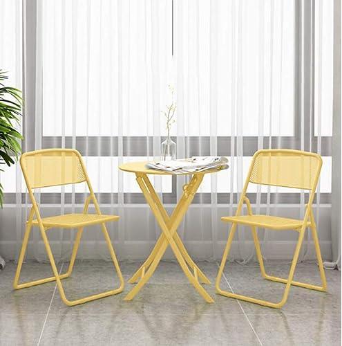 60% de descuento Silla de cena portátil, amarillo plegable plegable plegable del sillón de salón de la sala de estar conveniente para la exhibición de la sala de estar,B  tienda en linea
