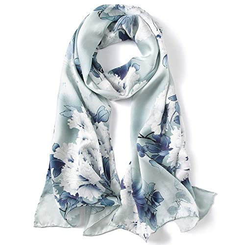 dfb8020d1114d Silk Scarves Women Ladies 100% Mulberry Silk Natural Anti-allergy Neck  Protection Scarf