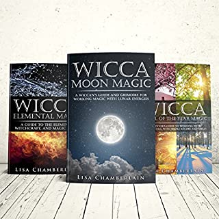 Wicca Natural Starter Kit: The Sun, the Moon, and the Elements: Elemental Magic, Moon Magic, and Wheel of the Year Magic                   By:                                                                                                                                 Lisa Chamberlain                               Narrated by:                                                                                                                                 Kris Keppeler                      Length: 7 hrs and 34 mins     2 ratings     Overall 4.5