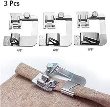 YEQIN 3 Pcs Adjustable Rolled Hem Foot (1 Inch, 1/2 Inch, 3/4 Inch) Sewing Machine Presser Foot Hemmer Foot Set for Singer Brother Janome Babylock Juki