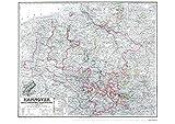 Historische Landkarte: Königreich HANNOVER, 1865 (plano)