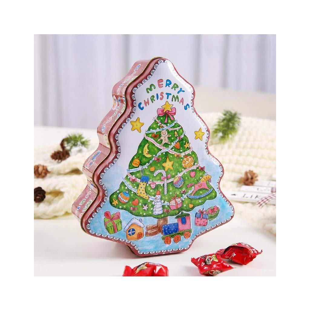 Caja de almacenamiento para guardar joyas, galletas, monedas, dulces y audífonos en forma de árbol de Navidad 1: Amazon.es: Hogar