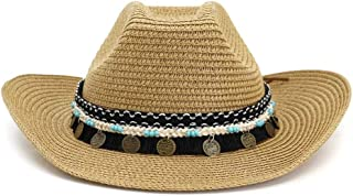 Xiang Ye Top Hat Western Cowboy Straw Hat Beach Hat National Wind Color Braided Rope Tassel Decoration Outdoor Seaside Sun Visor