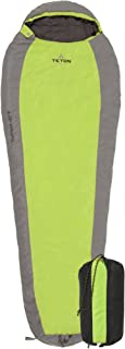 TETON Sports TrailHead Ultralight Mummy Sleeping Bag; Lightweight Backpacking Sleeping Bag for Hiking and Camping Outdoors; Stuff Sack Included; Never Roll Your Sleeping Bag Again; Green/Grey