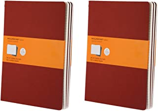 Moleskine Classic Notebook, Set of 6 Cashiers Notebooks, Softcover, 120 Lined Pages Each, Ruled. Each Journal is 7.5 Inches Wide by 10 Inches Tall by 1/8 Inch Thick (Cranberry Red)