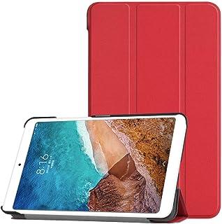 Kepuch Custer Funda para Xiaomi Mi Pad 4,Slim Smart Cover Fundas Carcasa Case Protectora de PU-Cuero para Xiaomi Mi Pad 4 - Rojo