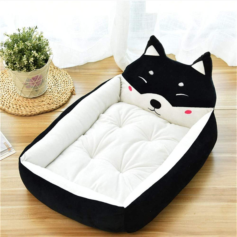 mejor marca Wuwenw Wuwenw Wuwenw Perrera Suministros para Mascotas Cocheicatura Mascota Nido Perro Cama Perro Estera Gato Nido Negro, XL  comprar barato