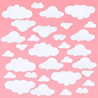 WINOMO 31 st stora moln väggdekaler vinyl gör-det-själv väggklistermärke avtagbar väggkonst dekor för vardagsrum barnkamma...