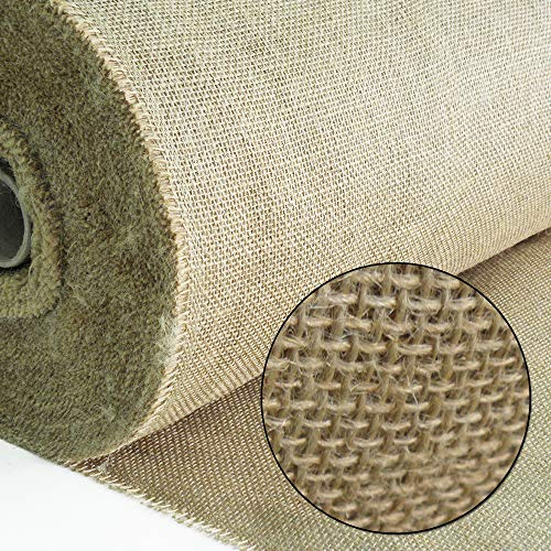 Roban Fashion - Tessuto in iuta naturale, larghezza 100 cm, al metro; tela per sacchi, per casa e giardino, iuta., 100CMX5M