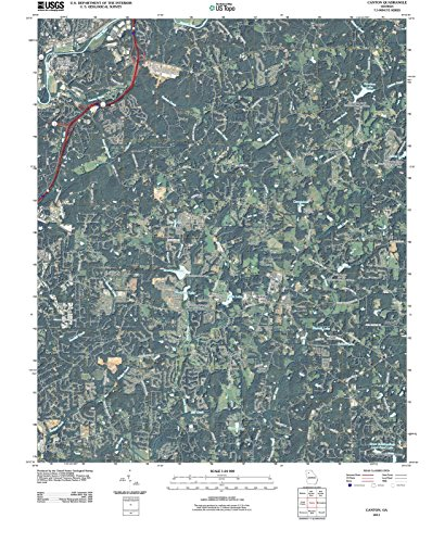 Georgia Maps - 2011 Canton, GA - USGS Historical Topographic Wall Art : 18in x 24in