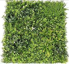 CAPPL Artificial Vertical Garden Green Leaves & White Flower Tiles 1mtr x 1mtr (10.78 Sq.ft)