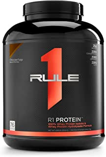 Sponsored Ad - R1 Protein Whey Isolate/Hydrolysate, Rule 1 Proteins (76 Servings, Chocolate Fudge)
