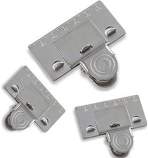 Matey Lot de 3 pinces à mesurer pour les coins, le ruban de mesure de précision vous aide à obtenir une lecture précise da...