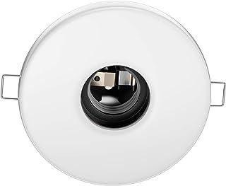 ledscom.de Lámpara de techo empotrada de porcelana E27 TELA, redonda, blanca, 99mm