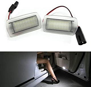 iJDMTOY (2) Full LED Side Door Courtesy Light Assy For Lexus IS ES GS LS RX GX LX Toyota Avalon Sienna Venza Camry Prius 4Runner, OEM Replacement, Powered by 18-SMD Xenon White LED