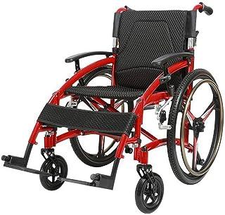 Transport Wheelchair Aluminio Ligero, Plegable, autopropulsado para sillas de Ruedas, para Personas Mayores