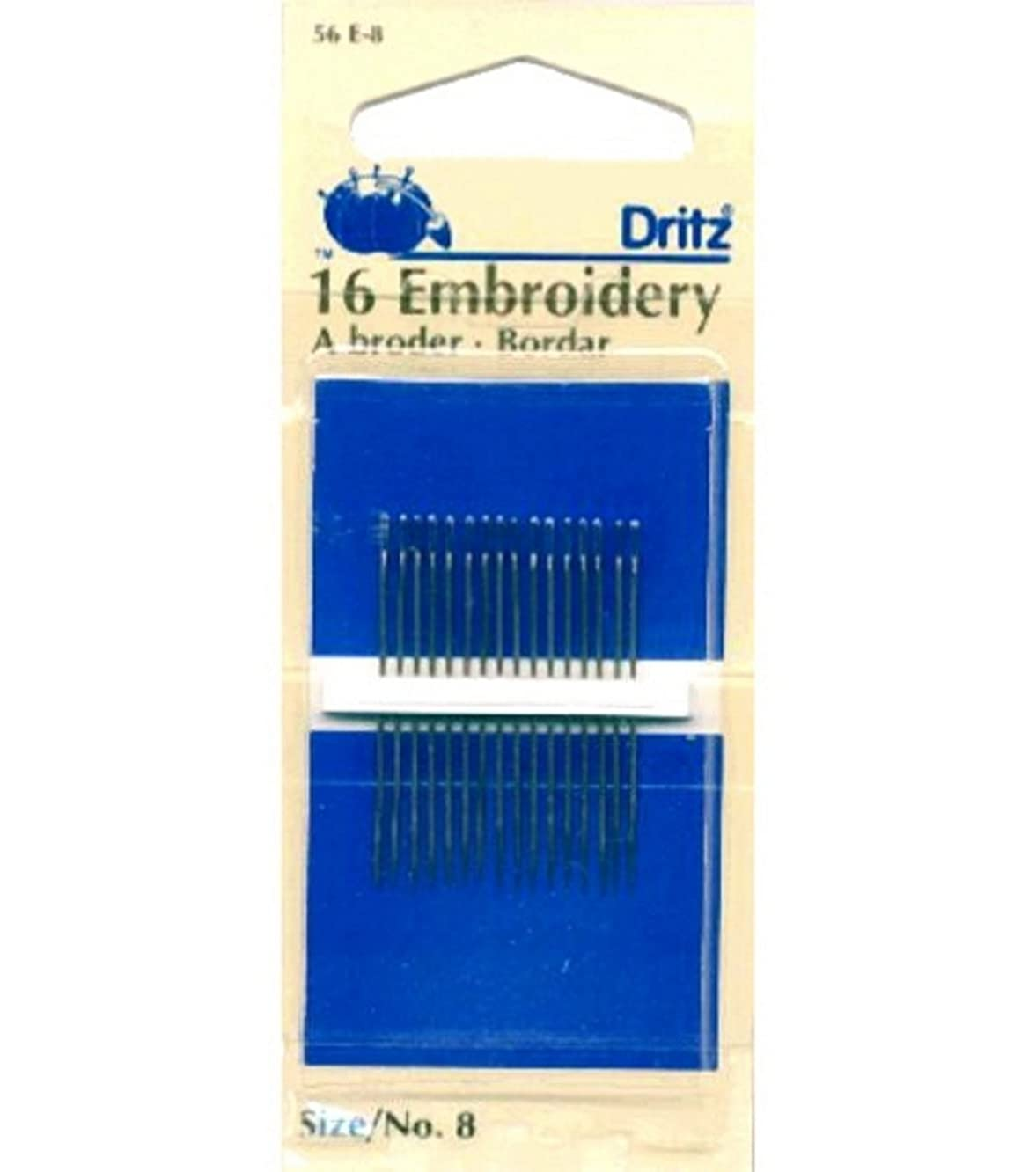 Dritz(R) Embroidery Hand Needles-Size 8 16/Pkg