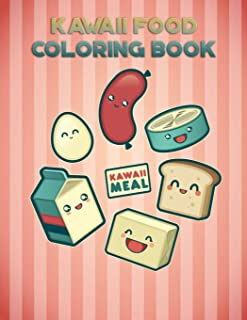 Kawaii Food Coloring Book: with 25 beautiful pictures, Large (8.5 x 11 inches)