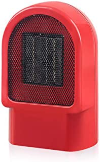 HBHHB Mini Calefactor Pequeno Calentamiento De Cerámica PTC Bajo Consumo Calefactor De Aire Caliente Silence para Cuarto/Baño/Oficina 14 * 14 * 22Cm,Rojo