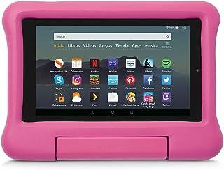 Funda infantil para tablet Fire 7 (compatible con la 9.ª generación - modelo de 2019), rosa