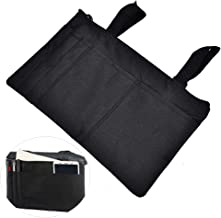Wheelchair Carry Bag for Arm Rest Pouch for Rollator Walkers Power Wheel Chairs and Knee Scooters Side Storage Organizer f...
