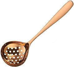 304 roestvrij staal Multi-Purpose soeplepel vergiet Sauce Spoon Creative Deep Bottom Spoons (Color : Rose Gold Colander)
