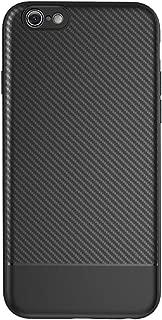 MUNDULEA Soft TPU Slim Protective Carbon Fiber Textured Anti-Scratch Protection Phone Cover for iPhone 6/iPhone 6s Case (Carbon Fiber)