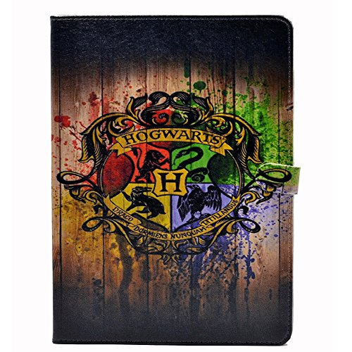 YHB Case for iPad Air 2th,Magic Badge Watercolor Art Pattern Leather Flip Stand Case Cover for ipad Air 2 II (2014 Model A1566 A1567)