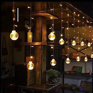 Globe String Lights, LED Crystal Ball Curtain Lights, Waterproof LED Fairy String Lights for Garden, Patio, Party, Wedding...