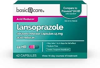 Basic Care Lansoprazole Delayed Release Capsules, 15 Mg, 42Count